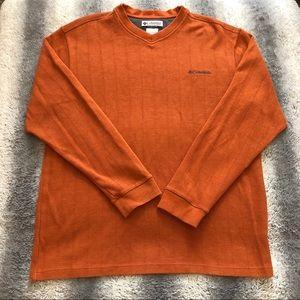 🗻 Columbia Sweater Men's Large Orange